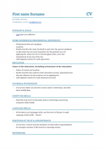 Arbetsförmedlingen - CV in Sweden